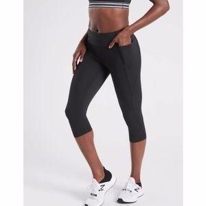 Athleta Velocity Stash Pocket Crop Pant S Black